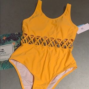 Cupshe Yellow One Piece Swimsuit